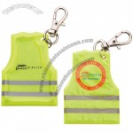 Gilet Shape Reflective Tog With Keychain Carabiner