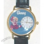 Ginny Doll Christmas Watch - Black Watch Band