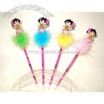 Girl Feather Pen