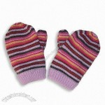Girl' s Multi Stripe Mitten