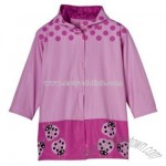 Girls' Ladybug Novelty Raincoat