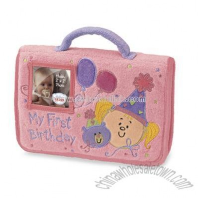Girl's My First Birthday Plush Photo Album