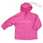 Girls Polyurethane Fleece Lined Rain Jacket