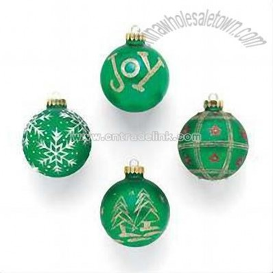 Glass Christmas Ball Ornaments