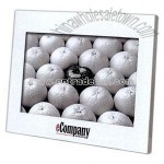 Glass Front Brushed Aluminum Backing Photo frame