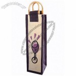 Glass Jute Wine Bag - Single Bottle