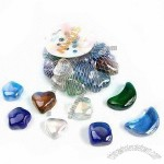 Glass Marbles in Cube, Moon, Heart and Star Shape