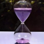 Glass Sand Timer 80 x 200mm