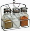 Glass Spice Jar / Salt Jar / Sugar Jar with Stand