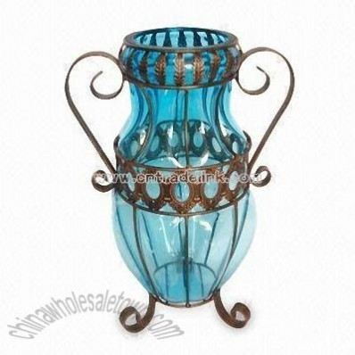 Glass Vase in Light Blue