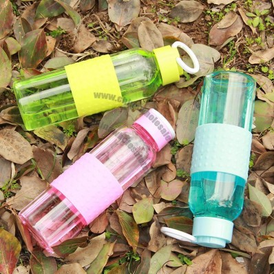 Glass Water Bottle with Silicone Non-slip