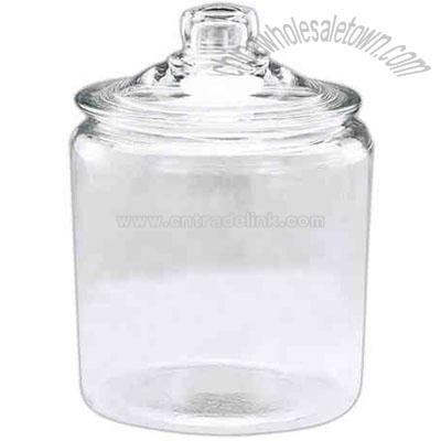 glass canister cookie jar with lid