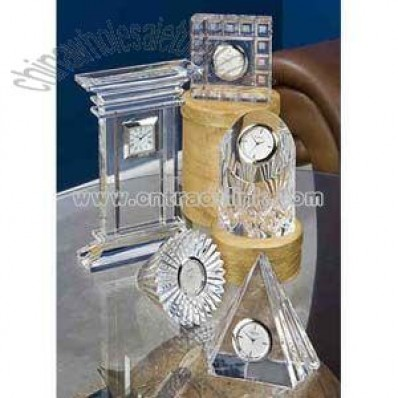 Glass crystal Clocks