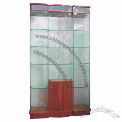 Glass display cabinet 100W*28D*183H