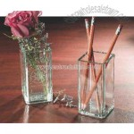 Glass pen or pencil holder