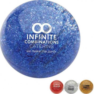 Glitter Filled Bouncing Balls Stress Reliever