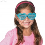 Glitter Heart-Shaped Shutter Shades Glasses