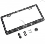 Glitter Licenes Plate Frames with Handcrafted Crystal Premium