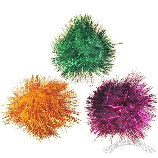 Glitter Pom Pom Balls, Pom Poms, China Wholesale Town Supplier