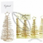 Glitter Tree Place Card Holders