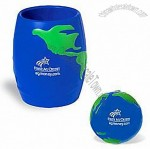 Global Stressball In Can Holder