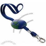 Globe Anti-Stress Ball with Lanyard