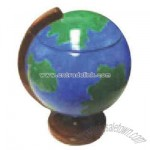 Globe shaped cookie jar