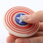 Glow In The Dark US captain shield Silicone Hand Spinner