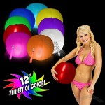 Glowing 12'' Beach Ball