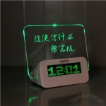 Glowing Memo Alarm Clock with 4 port USB Hubs