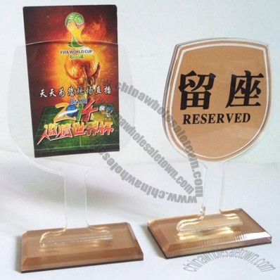 Goblet Shaped Menu Holder and Table Number Sign