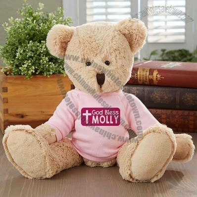 God Bless Personalized Teddy Bear