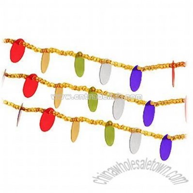 Gold Beaded Multi Sequins Garland