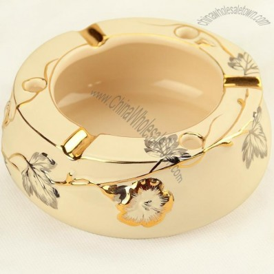 Gold Ceramic Ashtray