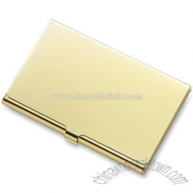 Gold Flat Cover Business Card Case