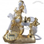 Gold Girl Antique Telephone