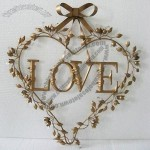 Gold Heart-shaped Metal Craft