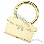 Gold House Keychain