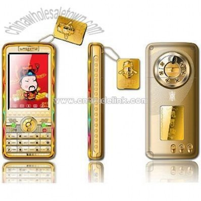Gold Housing Mobile Phone