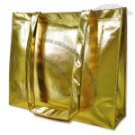 Gold Metallic Non-Woven Shopping Bag