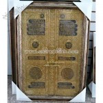Gold Muslim Locked Door Frame