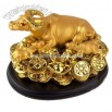 Gold Ox Statue w Gold Ingots