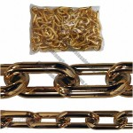 Gold Plastic Chain - 6mm 1.5 inch, 8 Foot bag