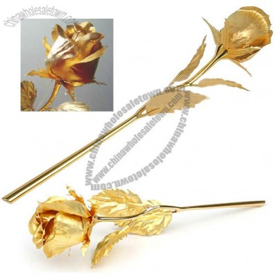 Gold Rose 24K Gold Foil Perfect Gift for Valentine (be in bud)