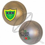 Gold/Silver Cricket Ball Stress Ball Toy