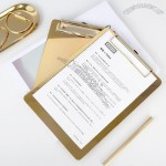 Gold Stainless Steel Writing Clipboard
