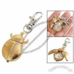 Gold Tone Ladybird Shaped Pendant Hunter Case Keychain Watch