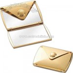Gold envelope compact mirror