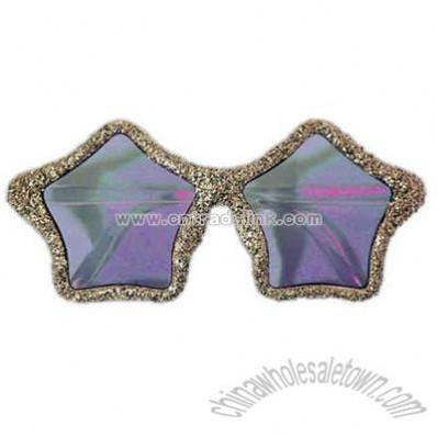 Gold glitter star sunglasses