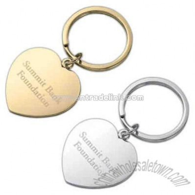 Gold heart shaped key holder